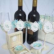Свадебный салон ручной работы. Ярмарка Мастеров - ручная работа Свадебный набор ``Мятный крем``. Handmade.