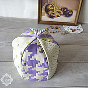 Для дома и интерьера handmade. Livemaster - original item Heating pad Plaid lilac. Handmade.