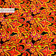 Order  ' Khokhloma Feather of the Firebird ' Atlas. SLAVYANKA. Livemaster. . Fabric Фото №3