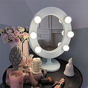 Для дома и интерьера ручной работы. Ярмарка Мастеров - ручная работа Светло-голубое гримерное зеркало. Handmade.