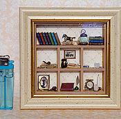 """Подарки к праздникам ручной работы. Ярмарка Мастеров - ручная работа Полочка """"Кабинет в миниатюре"""". Handmade."""
