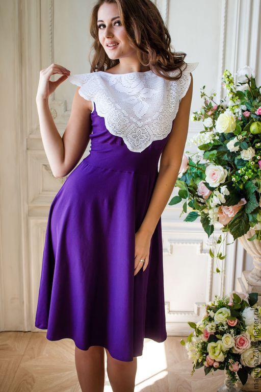 """Платья ручной работы. Ярмарка Мастеров - ручная работа. Купить Платье """"Gortensia"""". Handmade. Фиолетовое платье, платье с кружевом"""