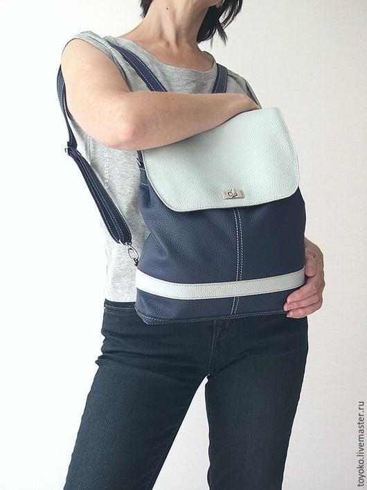 """Рюкзаки ручной работы. Ярмарка Мастеров - ручная работа. Купить Рюкзак кожаный """"Kyuki"""". Handmade. Сумка рюкзак, рюкзак"""