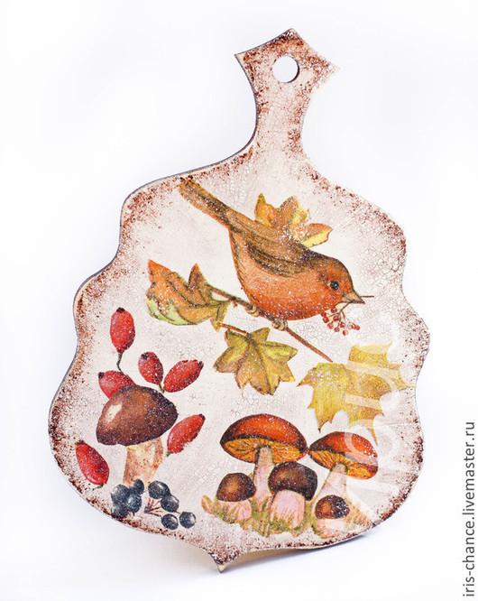 Кухня ручной работы. Ярмарка Мастеров - ручная работа. Купить Доска Осенняя декоративная (для кухни, для интерьера, разделочная). Handmade.