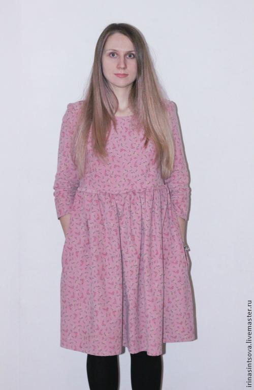 """Платья ручной работы. Ярмарка Мастеров - ручная работа. Купить Платье """"Бохо розовое"""". Handmade. Разноцветный, ирина синцова, вельвет"""