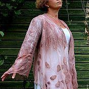 """Одежда ручной работы. Ярмарка Мастеров - ручная работа Кардиган валяный """"Пепел розы"""". Handmade."""