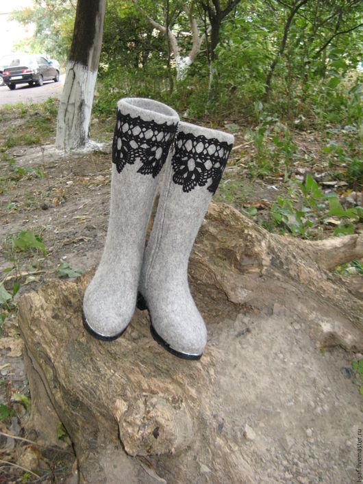 Купить валяные зимние сапоги `Кружево`.Ярмарка мастеров-ручная работа. L-saf. Обувь ручной работы. Валяные сапожки.Зимние сапоги.Валяные зимние сапоги.