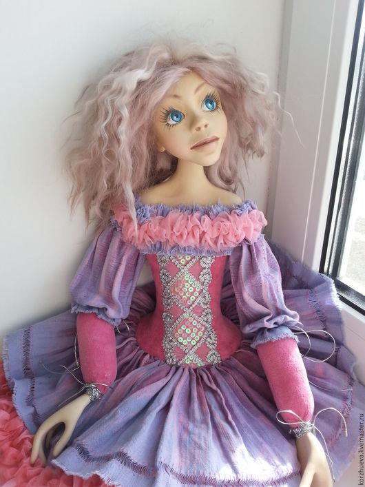 Коллекционные куклы ручной работы. Ярмарка Мастеров - ручная работа. Купить Будуарная кукла Алиса. Handmade. Сиреневый, паперклей