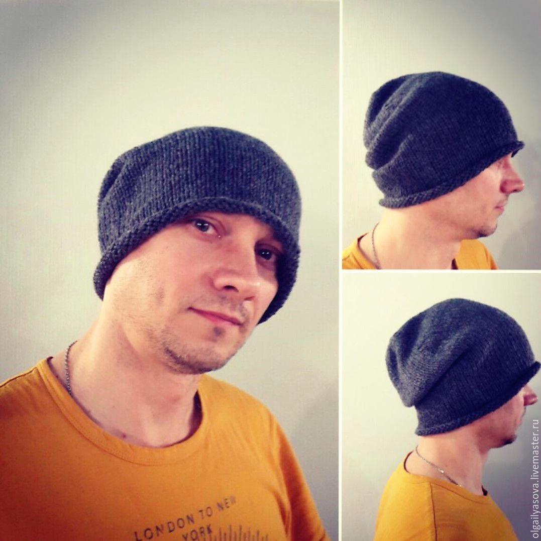 e54160cc82d1 Мужская молодежная шапка-чулок – купить в интернет-магазине на Ярмарке  Мастеров ...
