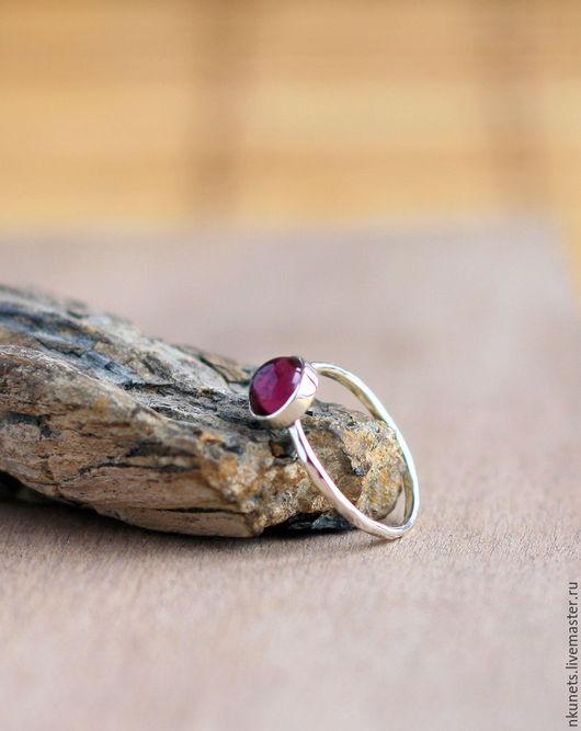 Кольца ручной работы. Ярмарка Мастеров - ручная работа. Купить Серебряное кольцо с кабошоном. Handmade. Серебряный, маленькое колечко