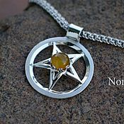 Фен-шуй и эзотерика handmade. Livemaster - original item The pentagram with the amber or other stones of your choice.. Handmade.