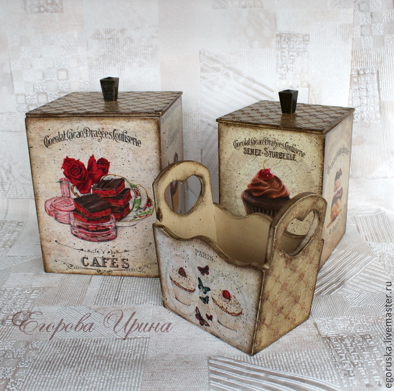Set of boxes 'French dessert', Storage Box, Moscow,  Фото №1