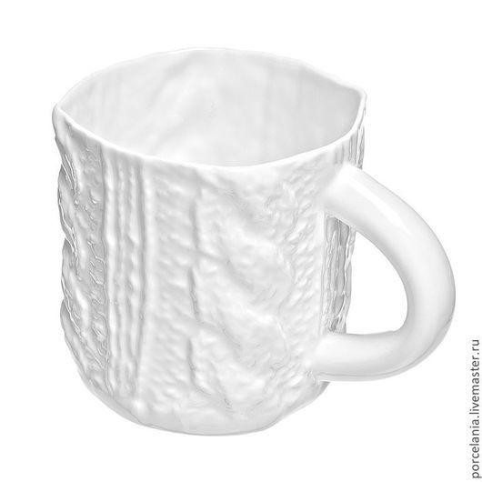 Кружки и чашки ручной работы. Ярмарка Мастеров - ручная работа. Купить Вязаная Чайная кружка 360 мл. Handmade. Белый