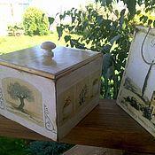 Для дома и интерьера ручной работы. Ярмарка Мастеров - ручная работа короб  Итальянское настроение. Handmade.