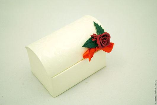 """Свадебные аксессуары ручной работы. Ярмарка Мастеров - ручная работа. Купить Бонбоньерка с розой """" Для сюрпризов"""". Handmade."""