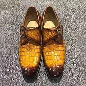 Обувь ручной работы handmade. Livemaster - original item Stylish crocodile leather shoes, premium. Handmade.
