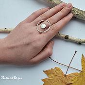 handmade. Livemaster - original item Ring silver round ring 925 sterling silver large boho ring. Handmade.