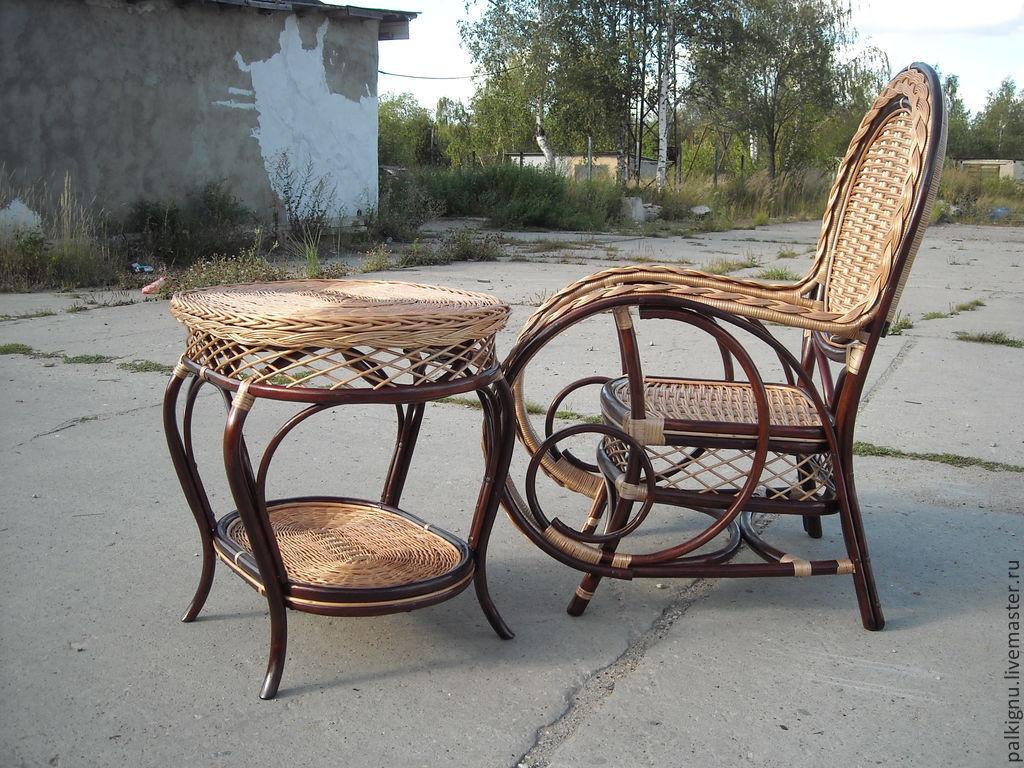 Мебель ручной работы. Ярмарка Мастеров - ручная работа. Купить Комплект плетеной мебели. Handmade. Мебель, стул, мебель из дерева