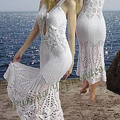 Одежда ручной работы. Ярмарка Мастеров - ручная работа Вязаный крючком сарафан «Улыбка ангела». Handmade.