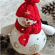 """Новый год 2017 ручной работы. Ярмарка Мастеров - ручная работа. Купить Снеговик """"RED&GOLD"""". Handmade. Снеговик, подарок на новый год, снеговики"""