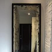 Для дома и интерьера ручной работы. Ярмарка Мастеров - ручная работа Дизайнерское состаренное зеркало в стиле лофт. Handmade.
