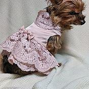 Одежда для питомцев ручной работы. Ярмарка Мастеров - ручная работа Платье для собак. Handmade.