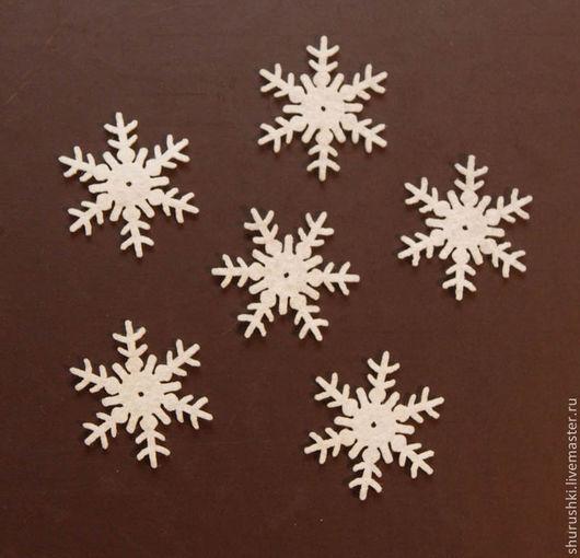 Валяние ручной работы. Ярмарка Мастеров - ручная работа. Купить Снежинки из фетра. Handmade. Снежинки, новогодний декор