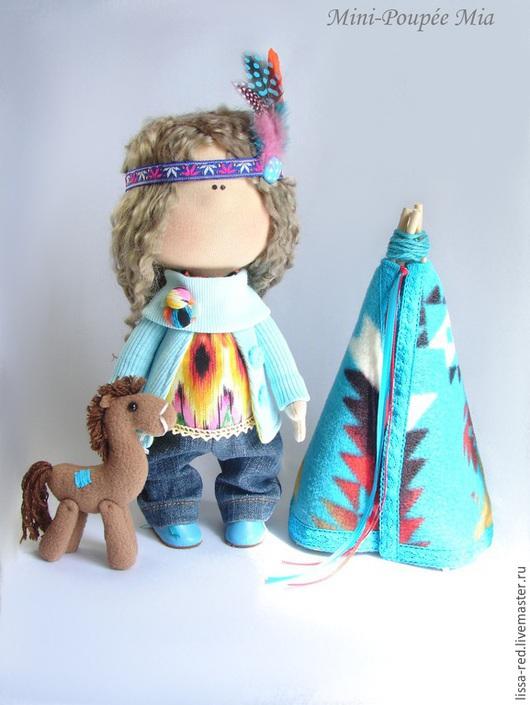 """Коллекционные куклы ручной работы. Ярмарка Мастеров - ручная работа. Купить Куколка """"Девочка Mia """". Handmade. Куколка, вигвам"""