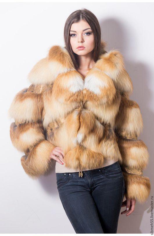"""Верхняя одежда ручной работы. Ярмарка Мастеров - ручная работа. Купить Куртка из рыжей лисы """"Бабочка"""". Handmade. Рыжий"""