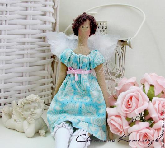 Куклы Тильды ручной работы. Ярмарка Мастеров - ручная работа. Купить Тильда Ангел Эмми + подарок подставка. Handmade.