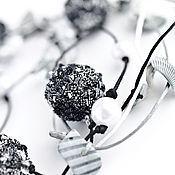 Украшения ручной работы. Ярмарка Мастеров - ручная работа Колье Ночной океан черно-белое. Handmade.