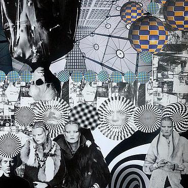 Картины и панно ручной работы. Ярмарка Мастеров - ручная работа Картина в стиле сюрреализм в технике коллаж Белый город. Handmade.