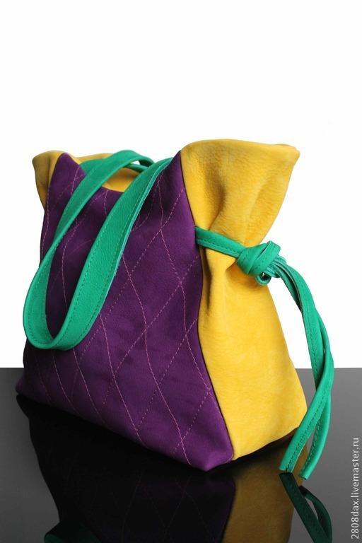 """Женские сумки ручной работы. Ярмарка Мастеров - ручная работа. Купить """"BOUQUET FRANCAIS"""", замшевая сумка, замша, фиолетовый, желтый. Handmade."""