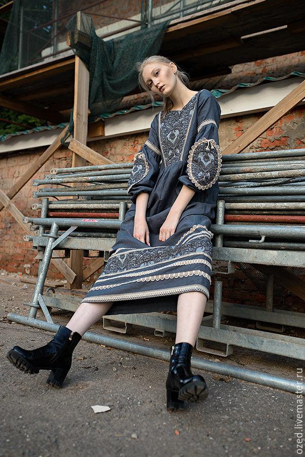 Grey dress linen, Dresses, Lyubertsy,  Фото №1