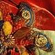 Колье, бусы ручной работы. Ярмарка Мастеров - ручная работа. Купить Колье №70 Бабочка Монарх. Handmade. Бабочка, оранжевый