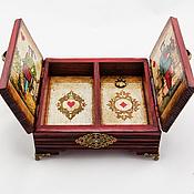 """Для дома и интерьера ручной работы. Ярмарка Мастеров - ручная работа Шкатулка для карт """"Король и Королева"""". Handmade."""
