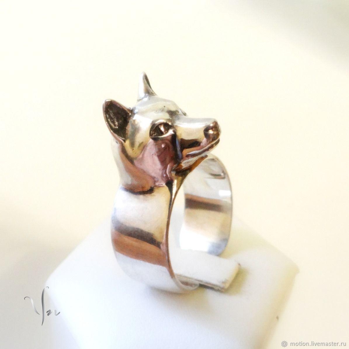 Husky Ring, Siberian Husky Jewelry, Sterling Silver Ring, Animal Ring, Rings, Yerevan,  Фото №1