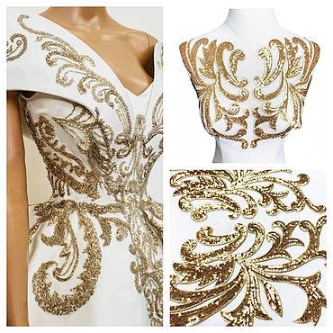 Materials for creativity handmade. Livemaster - original item Gold embroidery for sewing, set. Handmade.