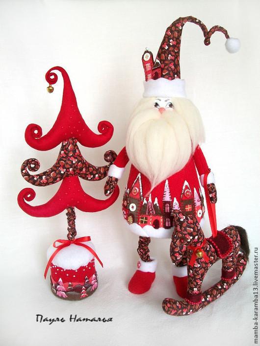 Сказочные персонажи ручной работы. Ярмарка Мастеров - ручная работа. Купить Дед Мороз и Ёлка. Handmade. Дед мороз