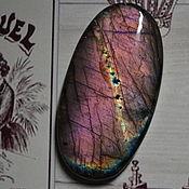 Материалы для творчества handmade. Livemaster - original item Labradorite oval. Cabochon 62x32x7. Handmade.