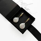 Украшения handmade. Livemaster - original item Earrings with natural Baroque pearls