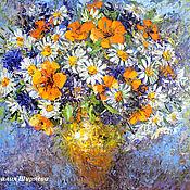 Картины и панно handmade. Livemaster - original item Picture of Daisy bouquet