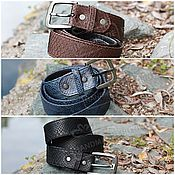Аксессуары handmade. Livemaster - original item Belt mens Python leather in a classic style. the different colors.. Handmade.