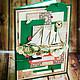 Открытки для мужчин, ручной работы. Мужская открытка в коробке 29. Ольга Хупавкина (oligamus). Интернет-магазин Ярмарка Мастеров. Бежевый