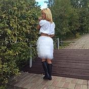 """Одежда ручной работы. Ярмарка Мастеров - ручная работа Юбка из ламы """" Белый лебедь """". Handmade."""