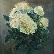 Картины и панно ручной работы. Ярмарка Мастеров - ручная работа нечаянные чайные розы. Handmade.