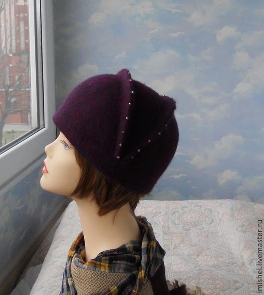 """Шляпы ручной работы. Ярмарка Мастеров - ручная работа. Купить шляпка """"Антуанетта"""". Handmade. Валяные шляпки, шляпки из войлока"""