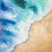 Картины и панно handmade. Livemaster - original item Oil painting sea Sea wave and beach Seascape. Handmade.