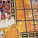 Текстиль, ковры ручной работы. Покрывало Золотая Адель  Климт. Дементьева Людмила (dquilt). Ярмарка Мастеров. Климт, золотая адель
