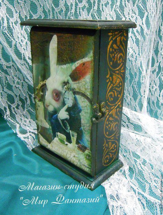 Прихожая ручной работы. Ярмарка Мастеров - ручная работа. Купить Ключница Алиса в стране чудес. Фэнтези. Handmade. Морская волна